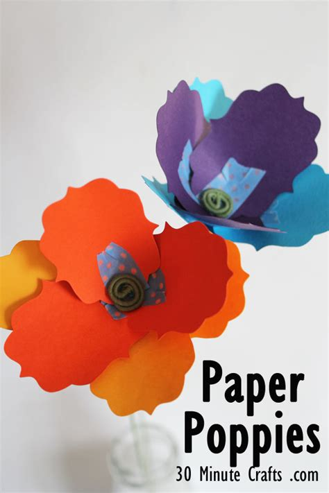 How To Make Paper Poppy Flowers - simple 30 minute crafts paper