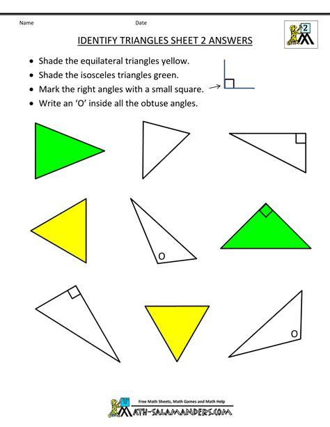 triangle worksheets for 2nd grade worksheet geometry triangles worksheet grass fedjp