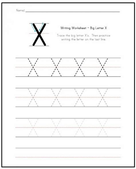 free printable worksheets letter x free printable letter x worksheets for kindergarten