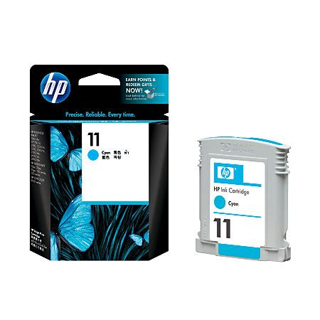 Tinta Hp 02 Cyan Ink Cartridge Original hp 11 cyan printhead c4811a original distributor tinta