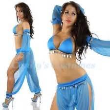 Arabian nights sexy belly dancer harem costume gypsy sheer pants coin