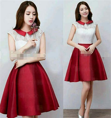 Baju Korea Murah Dress Cantik model baju dress pendek cantik dan murah simple terbaru