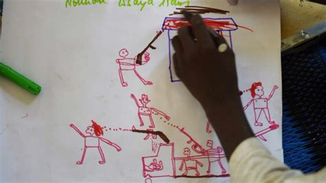 how to draw a refugee boat nigerian kids drawings capture boko haram terror the