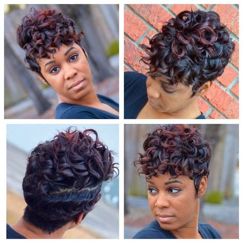 black women short hairstyles with soft waves soft waves curls black women short cuts pinterest