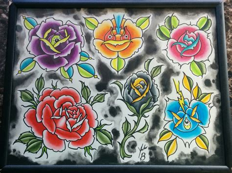 flower tattoo flash traditional flowers flash www pixshark
