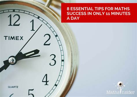 8 Tips On Succeeding In This World by 8 Essential Tips For Maths Success In Only 11 Minutes A