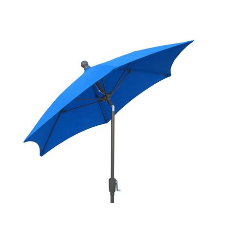 Hton Bay 9 Ft Aluminum Patio Umbrella In Sunbrella Home Depot Patio Umbrellas