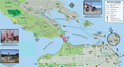 san francisco bridges map san francisco golden gate bridge bike tour air canada