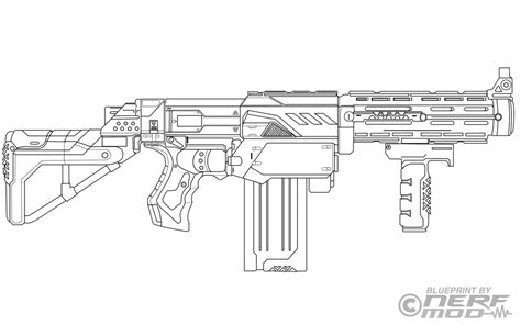 nerf guns free colouring pages