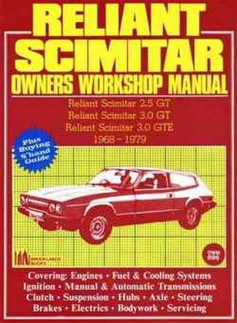 service manual books about how cars work 1979 chevrolet reliant scimitar 1968 1979 service repair manual brooklands books ltd uk sagin workshop car