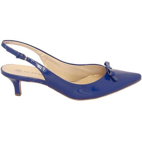 slingback shoes kaiser rosette low heel slingbacks in blue patent