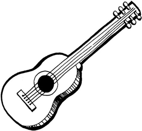 acoustic guitar coloring page acoustic guitar coloring page supercoloring com