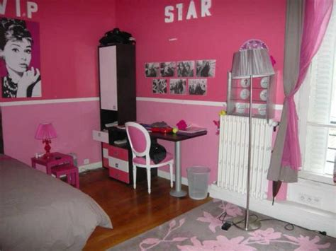 deco chambre girly girly newyork room idee deco chambre fille gris et rose3