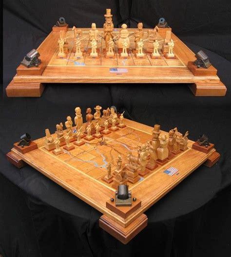 Handmade Chess - chess set handcarved civil war chess set on etsy handmade