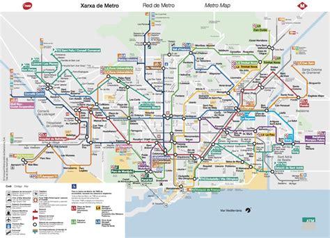 barcelona metro map barcelona map images