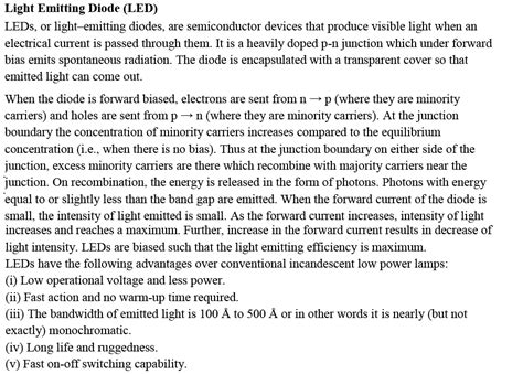 types of junction diodes cbse class 12th physics notes semiconductor electronics part ii