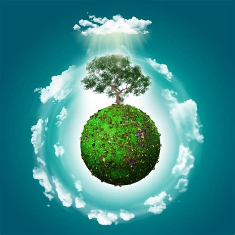 wallpaper green world green world with a tree background photo free download
