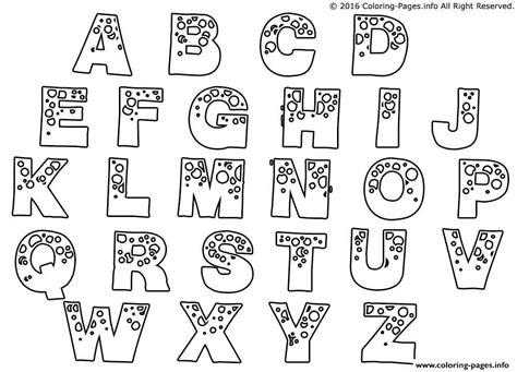 printable alphabet a z printable bubble letters a z letters exle