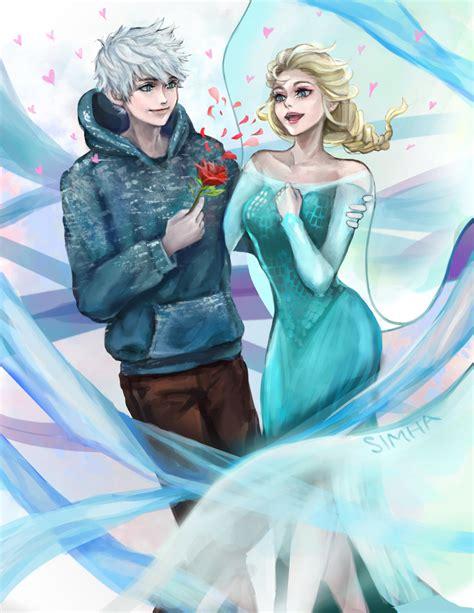 imagenes de jack frost x elsa jack frost x elsa valentine s day by simhaart on deviantart