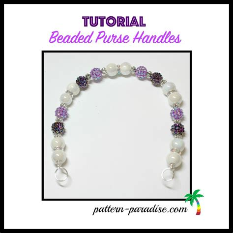 tutorial make your own beaded purse handles pattern