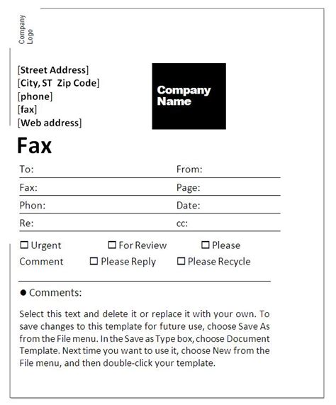 microsoft word fax template generic fax cover sheet doc 564729 sle fax cover