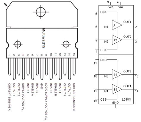l298n circuit diagram l298n motor controller theory projects