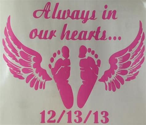 angel footprints baby loss decal single color angel