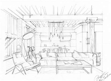 Studio C Sketches Of You by Interior Drawing One Point Perspective Interior