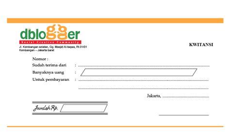 Contoh Kuitansi Dengan Logo by Kwitansi Vektor Dblogger Rie Fabian