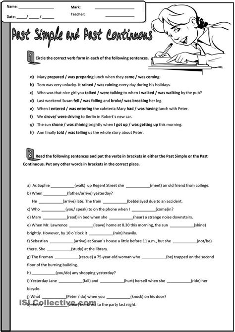 Grammar Practice Worksheets by 17 Best Images About Past Simple Or Continuous On