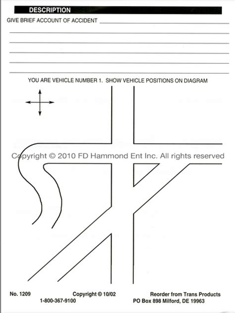 drivers preliminary accident report form