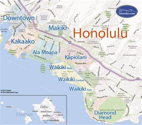 honolulu map map of honolulu 187 travel