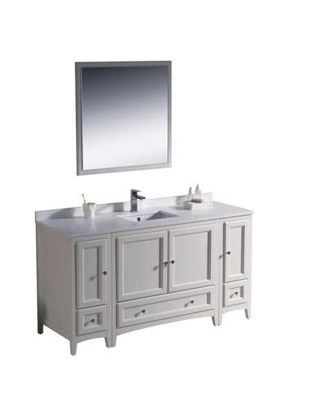 60 Inch White Bathroom Vanity Single Sink by 60 Inch Single Sink Bathroom Vanity In Antique White