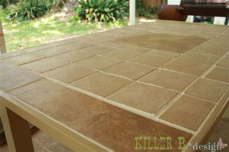 how to a tile table top for outdoors 50 best images about tile top for table on