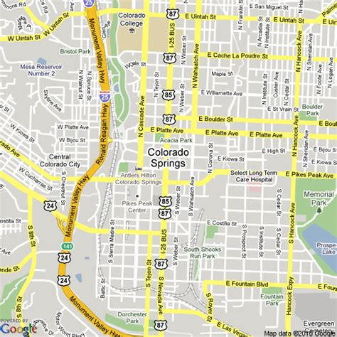 colorado springs co map about maps of colorado springs colorado springs