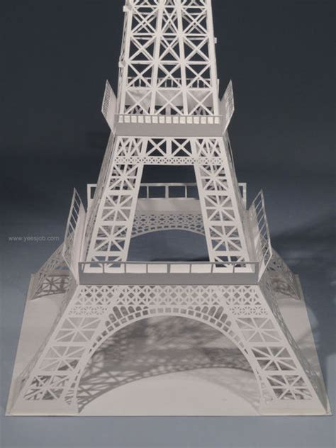 eiffel tower pop up card template the eiffel tower pop up card origami architecture kirigami