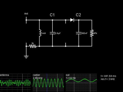 capacitor circuit simulator am detector circuit simulator