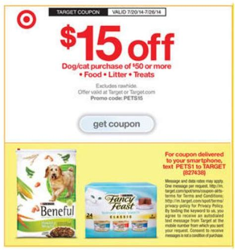 target 5 15 personal care 15 50 pet care and 10