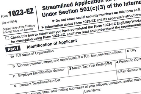 User Fee For Form 1023 Ez Reduced Effective July 1 Rev