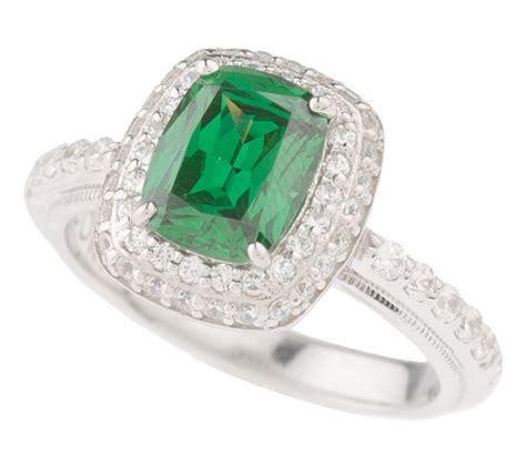 tacori iv diamonique epiphany simulated emerald ring