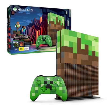 xbox one console xbox one s 1tb minecraft limited edition console the