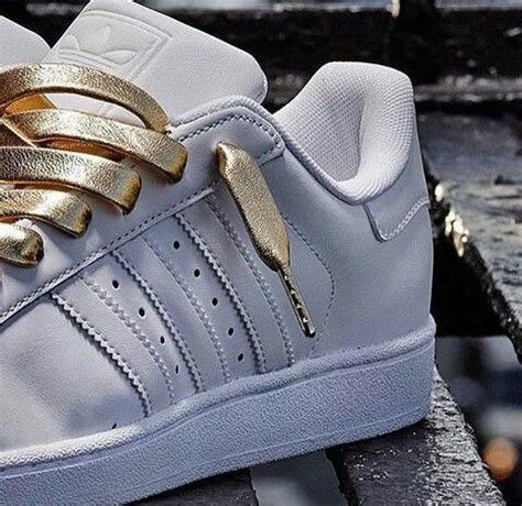 adidas original superstar white with gold lace adidas shoes adidas originals