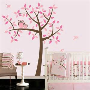 owl tree girl baby nursery theme wall decals match popular items for decal birds etsy children