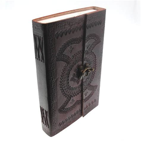 Handcrafted Journal - handcrafted indra xl embossed leather journal by paper