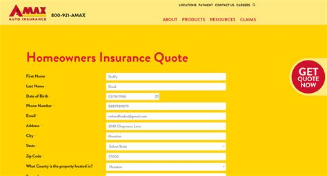 homeowners insurance quote amax insurance quote quotes of the day