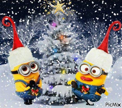 minions animated snow holiday christmas minions christmas tree christmas pictures christmas gifs