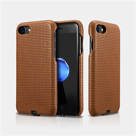 Iphone 7 Leather Back Cover iphone 7 woven pattern leather back cover