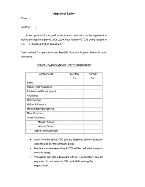 Appraisal Letter For Staff appraisal letter from an employee 28 images letter of