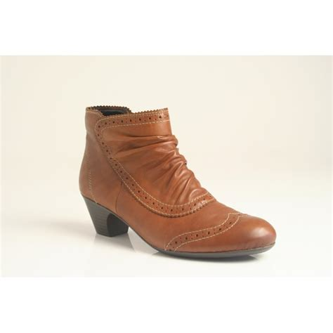 reiker boots rieker ankle boot with zip and brogue detail in soft