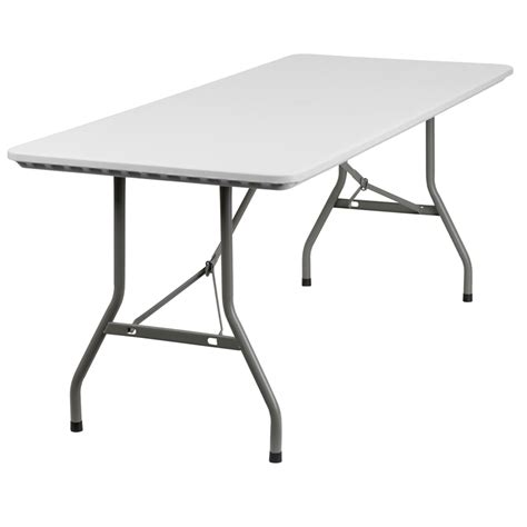 White Plastic Folding Table 30 W X 72 L Granite White Plastic Folding Table